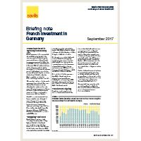 Briefing Note - French investment in Germany