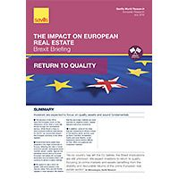 Brexit Briefing: The Impact on European Real Estate