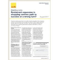 Briefing note: Restaurant expansion in shopping centres: path to success or a wrong turn?