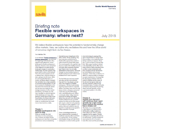 Briefing note Flexible workspaces in Germany: where next?