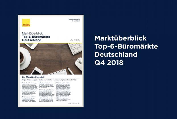 Marktüberblick Top-6-Büromärkte Deutschland Q4 2018