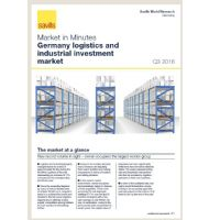 Market in Minutes Germany logistics and industrial investment market Q3 2016