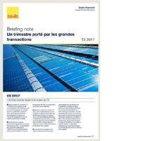 Briefing Note - Un trimestre porté par les grandes transactions