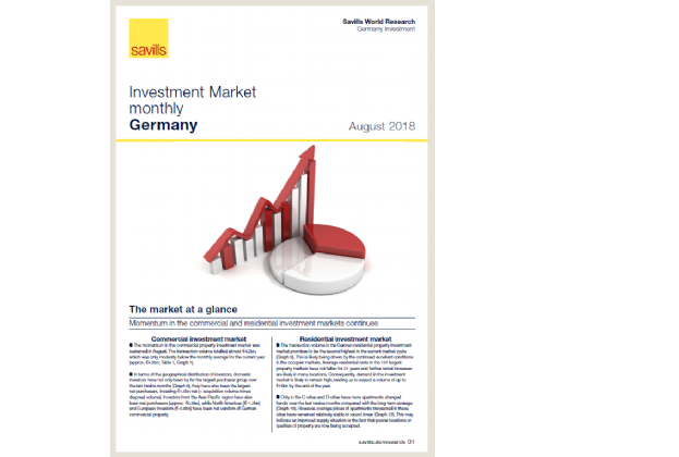 Investment Market monthly Germany - August 2018