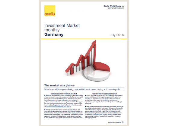 Investment Market monthly Germany - July 2018