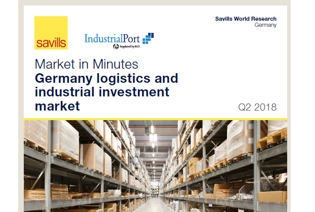 Market in Minutes Germany logistics and industrial investment market Q2 2018