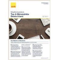 Marktüberblick Top-6-Büromärkte Deutschland Q2 2017