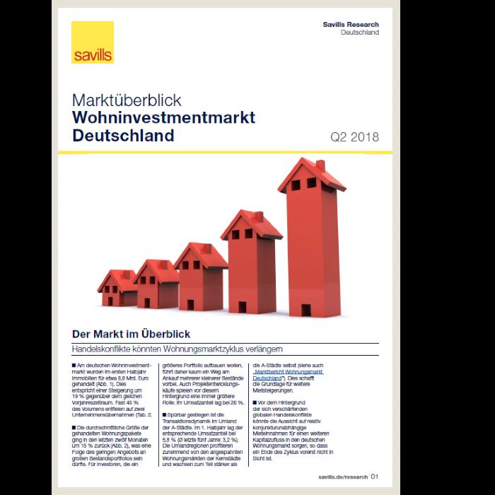 Marktüberblick Wohninvestmentmarkt Deutschland Q2 2018