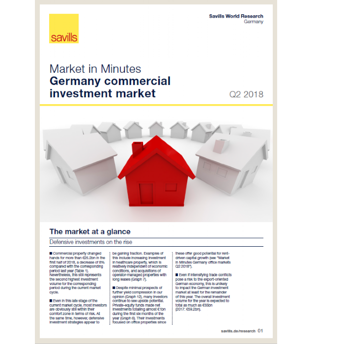 Market in Minutes Germany commercial investment market Q2 2018