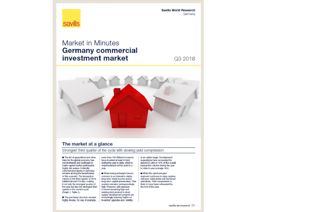 Market in Minutes Germany commercial investment market Q3 2018