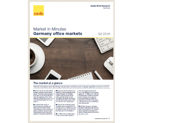 Market in Minutes Germany office markets Q3 2018