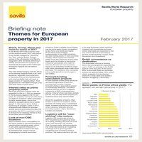 Themes for European property in 2017