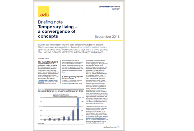 Briefing note Temporary living – a convergence of concepts